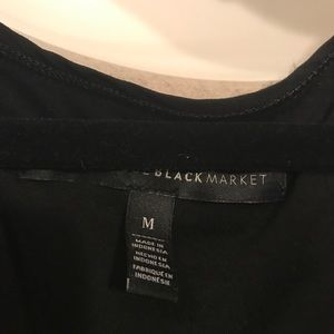 White House Black Market Tops - WHBM Black and White Stripped Top